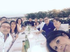 Brunelli con i colleghi