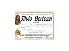 Necrologio Silvio Bertozzi