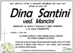 Dina Santini, necrologio