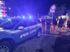 Controlli di Polizia sul lungomare di Senigallia