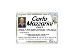 Necrologio Carlo Mazzarini