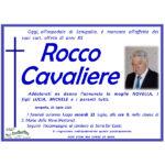 Necrologio Rocco Cvaliere