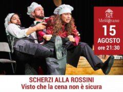 """Locandina dello spettacolo """"Scherzi alla Rossini"""""""