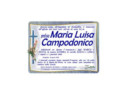 Necrologio Maria Luisa Campodonico