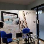 Lo studio allestito presso la Redazione di Senigallia Notizie per le video interviste