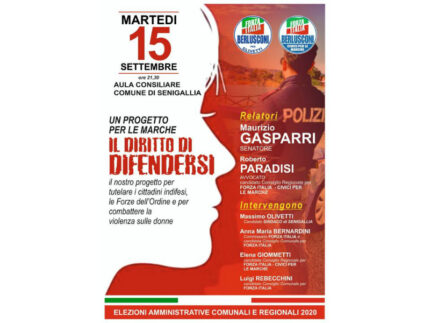 Gasparri a Senigallia per promuovere il disegno di legge dell'Avv. Paradisi
