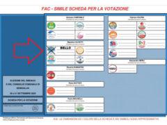 la scheda elettorale Massimo Bello
