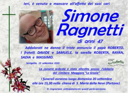 Simone Ragnetti, necrologio