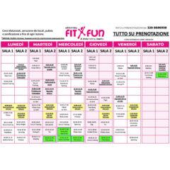 Planning orari corsi 2020/21 alla palestra centro fitness FitxFun di Senigallia