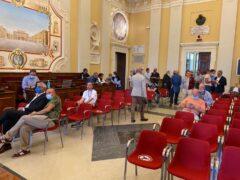 Via vai in sala consiliare a Senigallia per seguire l'esito delle elezioni 2020