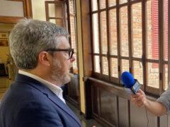 Interviste in Municipio durante lo scrutinio per le Elezioni Comunali Senigallia 2020