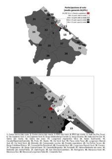 Mappa sulla partecipazione al voto alle Elezioni Comunali Senigallia 2020