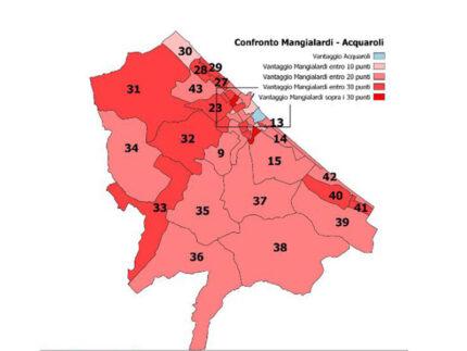 Presidente di regione. La distribuzione del voto a Senigallia tra Mangialardi e Acquaroli