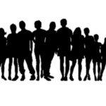 Famiglia, amici, persone, gruppo