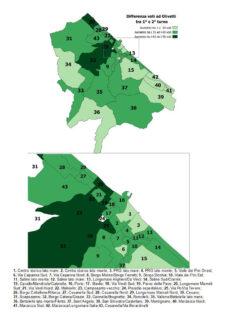 Voti a Massimo Olivetti: confronto tra primo e secondo turno - mappa completa