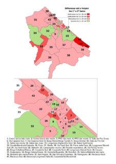 Voti a Fabrizio Volpini: confronto tra primo e secondo turno - mappa completa