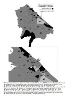 Partecipazione al voto: confronto tra primo e secondo turno - mappa completa