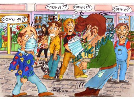 Covid-19 o malanni di stagione? - Vignetta di Massimo Nesti