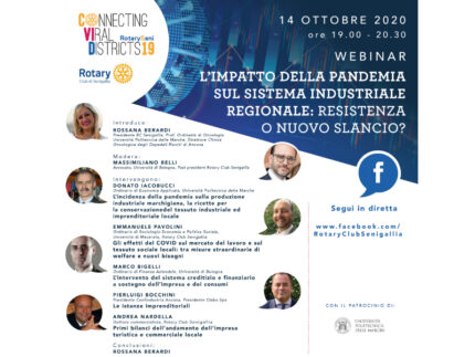 quarto Webinar aperto al pubblico organizzato dal Rotary Club di Senigallia