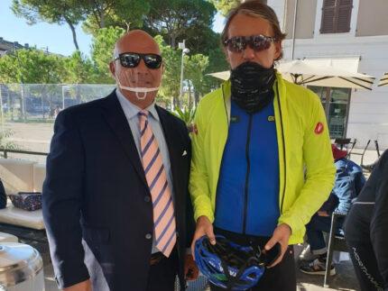 Il ct Mancini con il neo consigliere Liverani