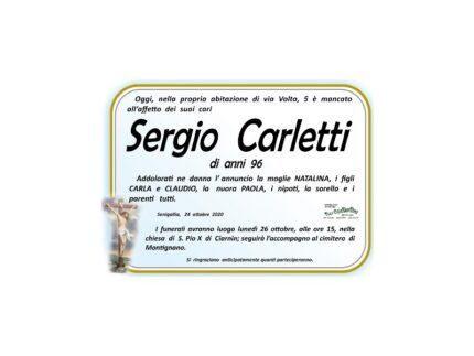 Necrologio Sergio Carletti