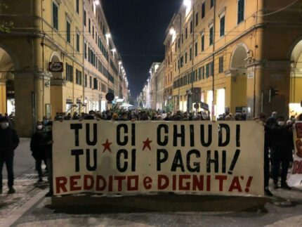 Tu ci chiudi, tu ci paghi: Manifestazione e corteo spontaneo ad Ancona