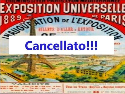 """Cancellazione della conferenza dell'associazione culturale """"Il salotto"""""""