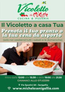 Il Vicoletto a casa tua: prenota pranzo e cena da asporto - locandina