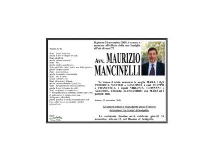 Necrologio Maurizio Mancinelli