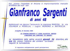 Necrologio Gianfranco Sargenti