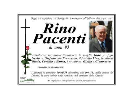 Necrologio Rino Pacenti