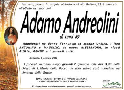 Andreolini, necrologio