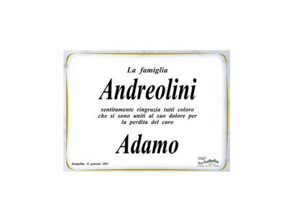 Adamo Andreolini, ringraziamenti