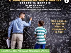 "Open day in presenza all'IIS ""Corinaldesi–Padovano"""