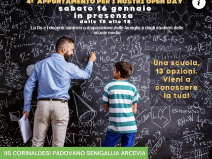 "Open day in presenza all'IIS ""Corinaldesi–Padovano"""