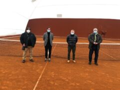 Presentazione copertura campi da tennis a Ponte Rio di Trecastelli