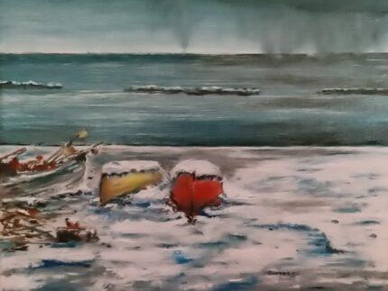 """Dipinto di M. G. """"Cesano - Quando viene dal mare"""""""