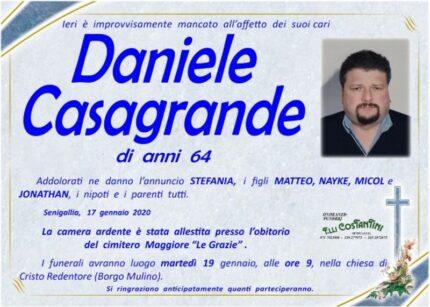 Necrologio Daniele Casagrande