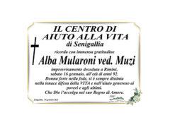 Il Centro di Aiuto alla Vita di Senigallia ricorda Alba Mularoni ved. Muzi