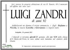 Luigi Zandri, necrologio