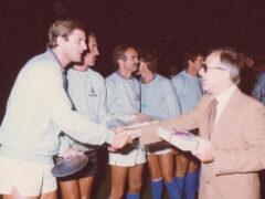 "Italia vs Germania ""Mexico '70"" da sinistra: Facchetti, Albertosi, Mazzola, salutati dal Sindaco Giuseppe Orciari"
