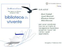 """Volantino progetto """"Biblioteca vivente"""""""