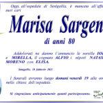 È mancata all'affetto dei suoi cari Marisa Sargenti