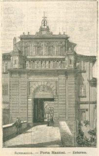 Porta Mazzini, stampa Secolo Illustrato