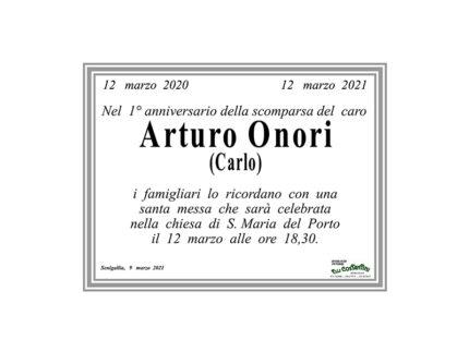 anniversario della scomparsa del caro Arturo Onori