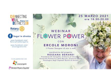"""""""Flower Power"""" – Webinar aperto al pubblico con Ercole Moroni organizzato dal Rotary Club Senigallia"""