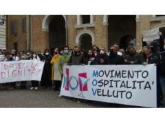 Manifestazione commercianti di Senigallia contro chiusure Covid-19