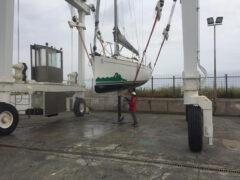 è tornato in funzione il travel-lift al porto