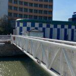 Ponte pedonale del porto chiuso per lavori