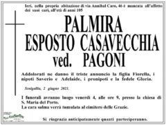 Necrologio Palmira Esposto